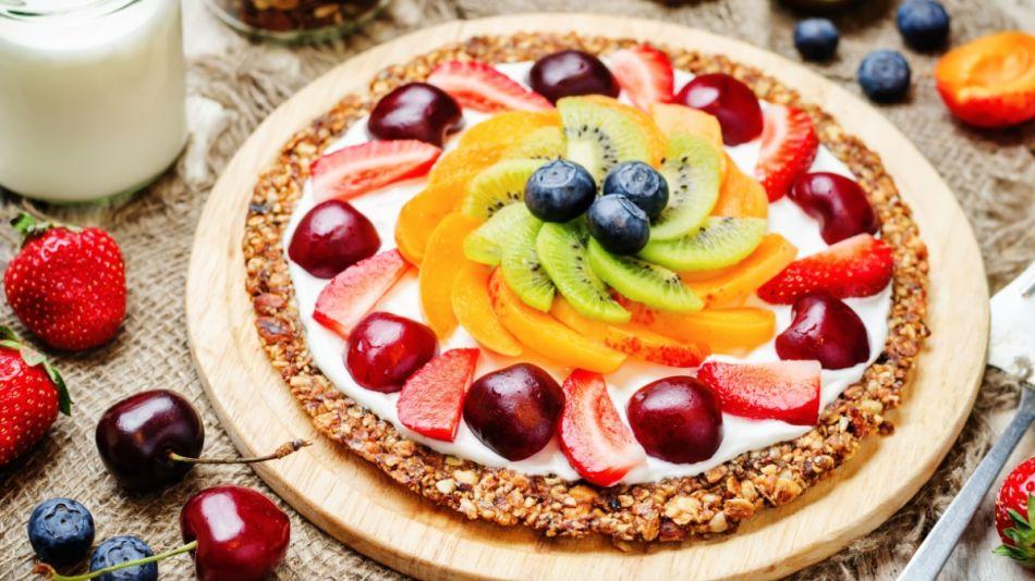 Fruchtuge Frühstuckspizza - Fruchtige Frühstückspizza
