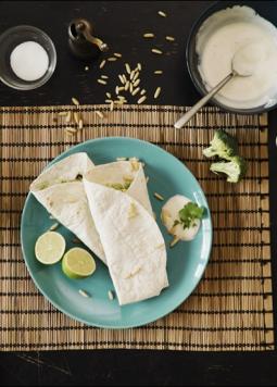 Zucchiniwraps mit Brokkolipesto - Zucchiniwraps mit Brokkolipesto