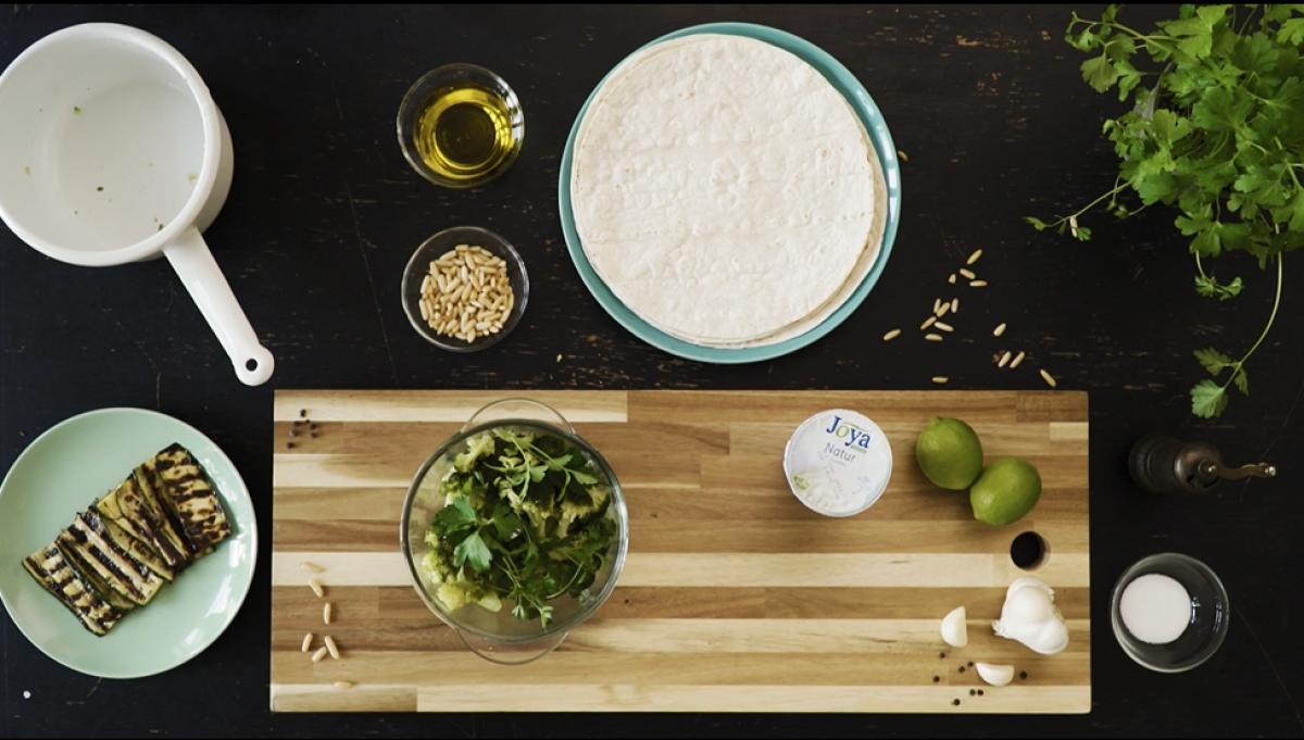 Zucchiniwraps mit Brokkolipesto - Zutaten für Zucchiniwraps mit Brokkolipesto