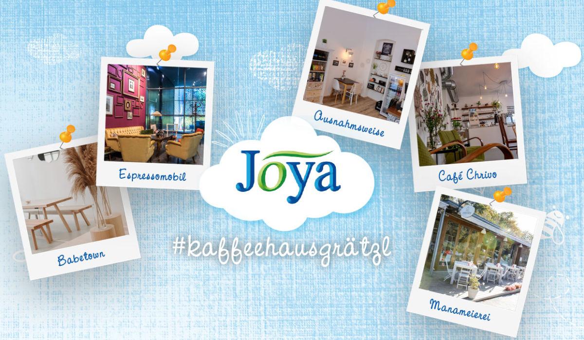 Joya Kaffeehausgraetzl Wien - Ansicht von verschiedenen Cafés in Wien in denen es Joya Produkte gibt