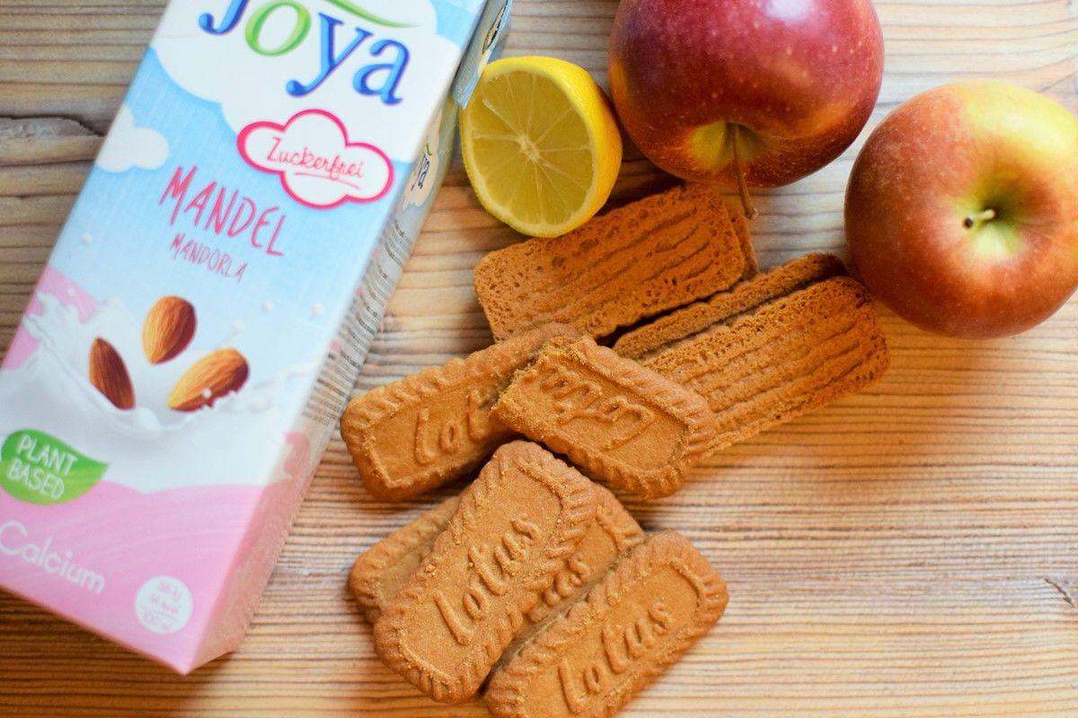 Gedeckter Apfel Karamell Mandel Kuchen Zutaten Joya - Zutaten für gedeckten Apfel Karamell Mandel Kuchen Joya - © Vegandreams